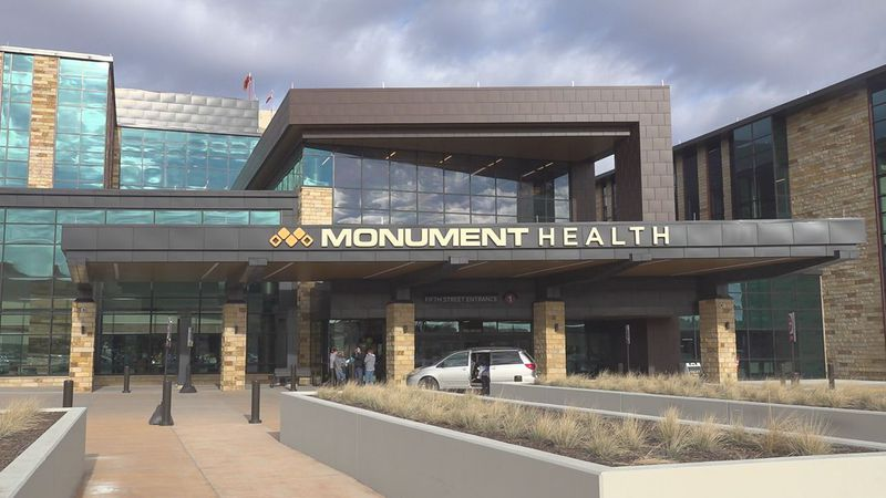 A view of the hospital from the Fifth Street entrance.