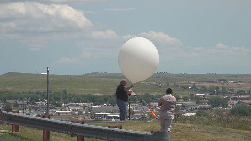 National Weather Service Rapid City launches a routine weather balloon.