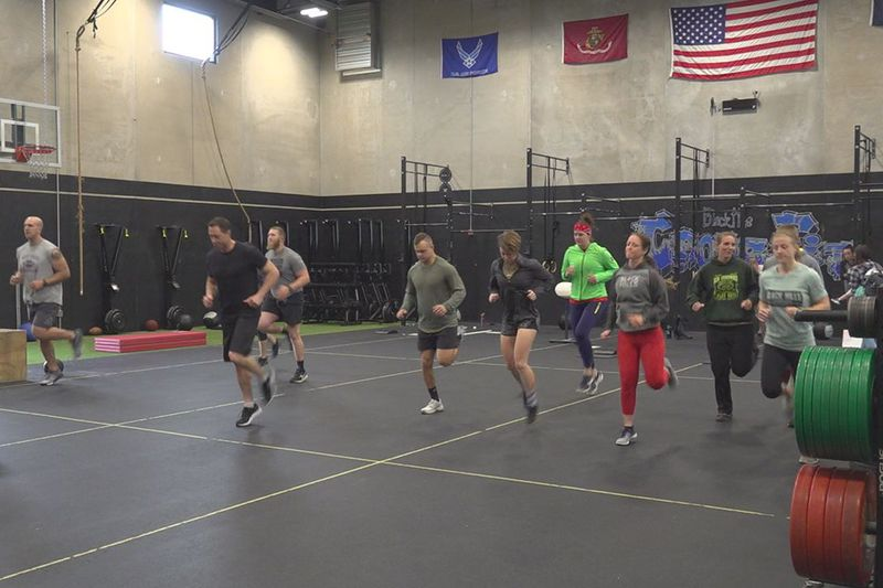 A group worked out for a good cause.