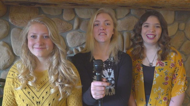 Pictured left to right: Hailey Anderson, Ella Carlson, and Kiana Tingley.