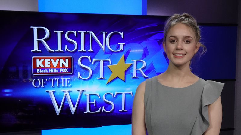 Bison senior is first finalist in this year's Rising Star of the West Scholarship Contest.