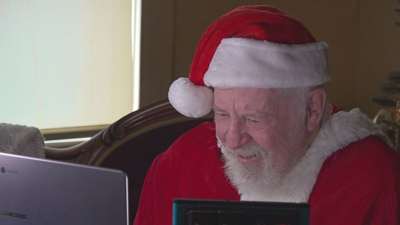 Kids got to zoom with St. Nick about the holidays.