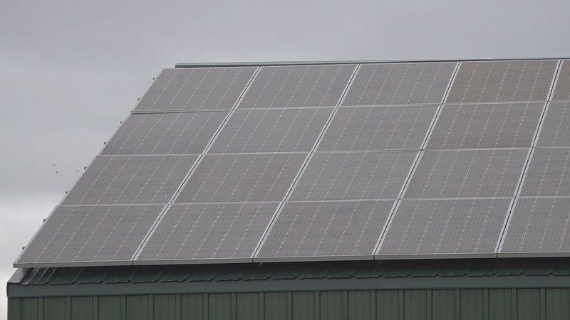 GenPro Solutions solar panels at company.
