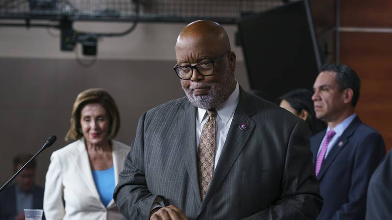 FILE - In this July 1, 2021, file photo Rep. Bennie Thompson, chairman of the House Homeland...