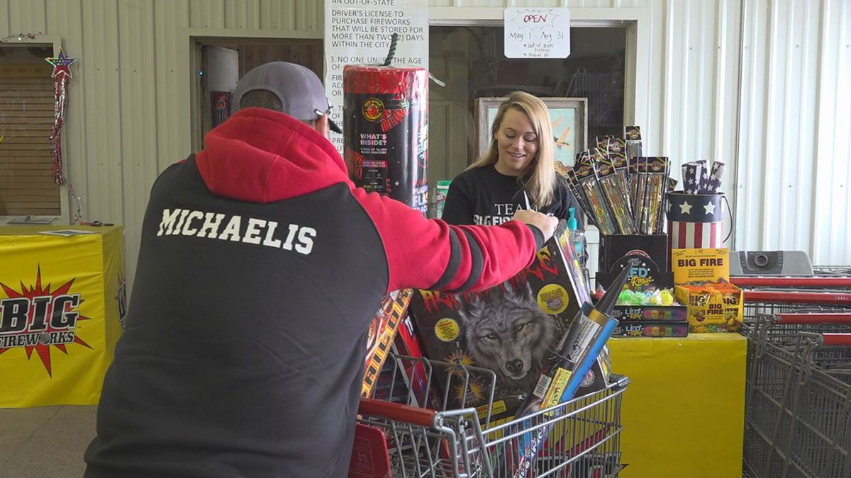 Mike Michaelis is buying fireworks.