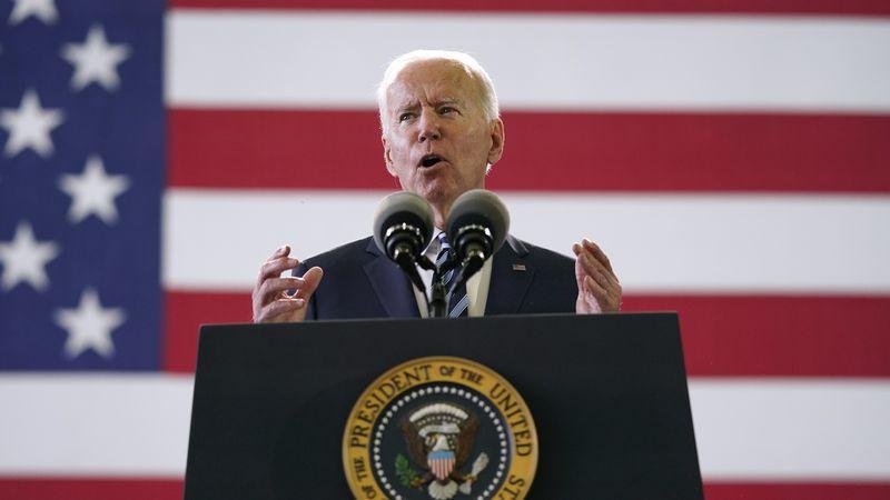 FILE - In this Wednesday, June 9, 2021 file photo, President Joe Biden speaks to American...