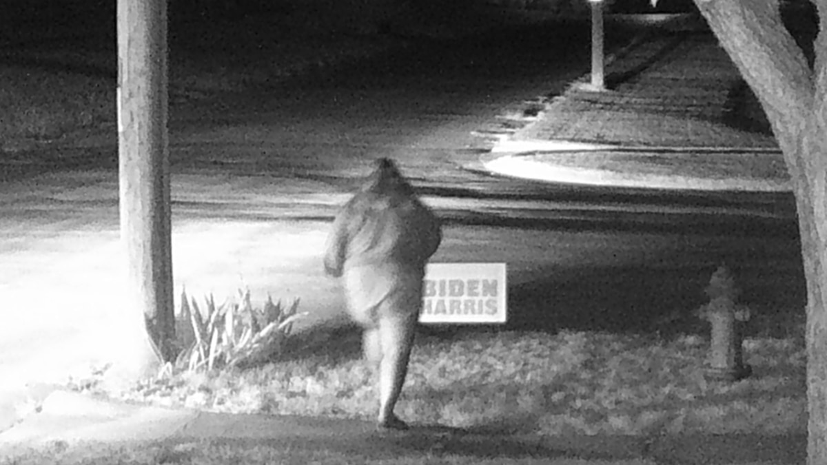 CPD needs your help in identifying this female who appears to steal a political sign out of a yard last night in Chadron.