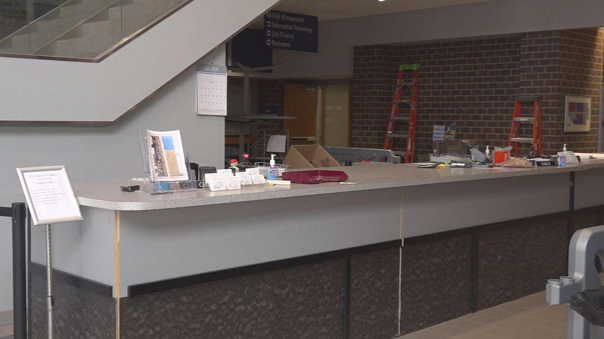 Rapid City City Hall's temporary service desk