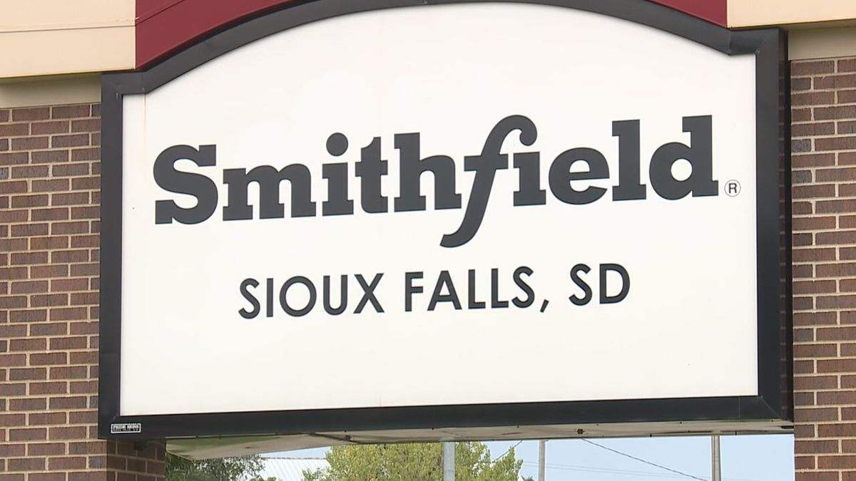 The Smithfield sign in Sioux Falls.