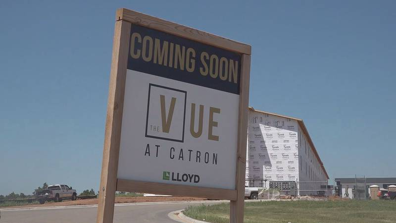Apartment complexes are popping up all over the area. Construction on The Vue on Catron...