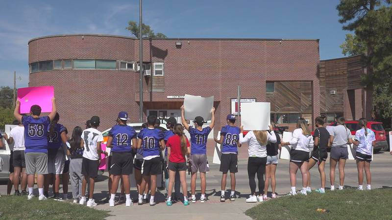 Students at Red Cloud Indian School are taking to the streets, and the doorsteps of tribal...