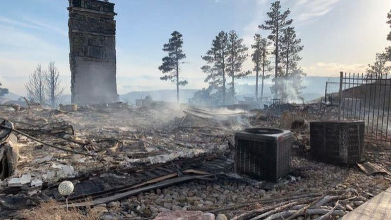 The home has been threatened by wildfires before, but the Schroeder Fire destroyed the house...