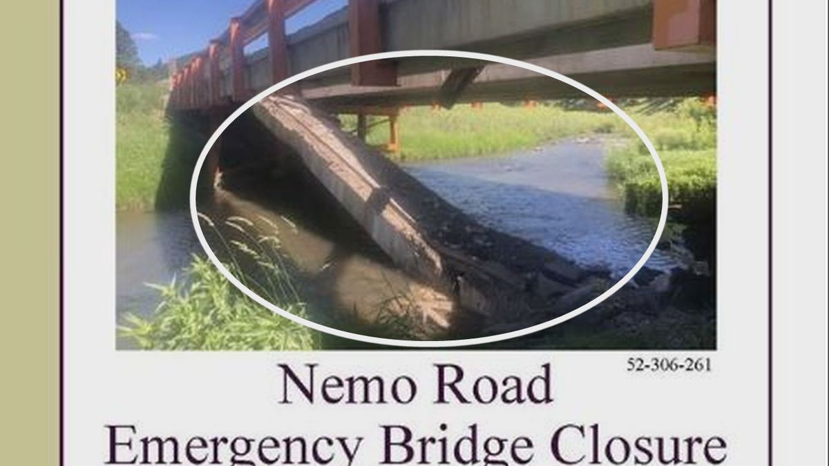 The bridge is getting repairs