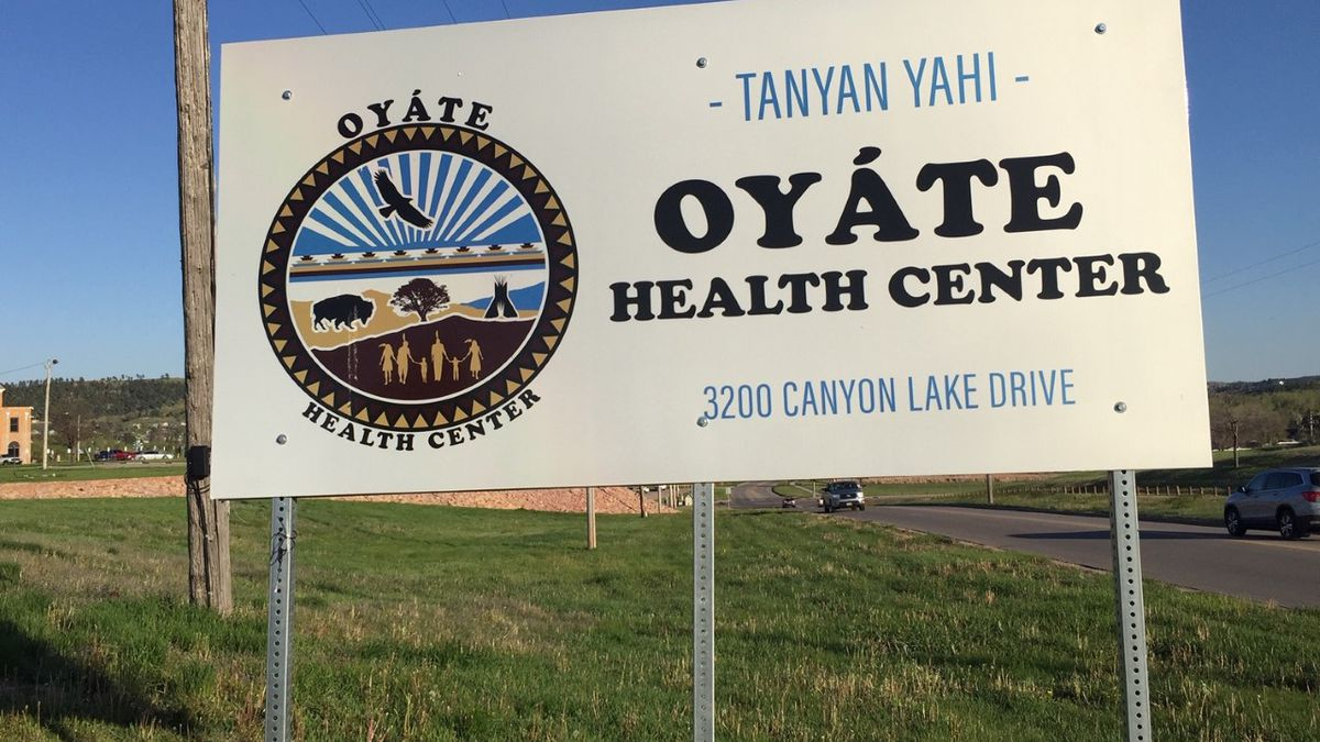 Sign at Oyate Health Center (formerly Sioux San Hospital)