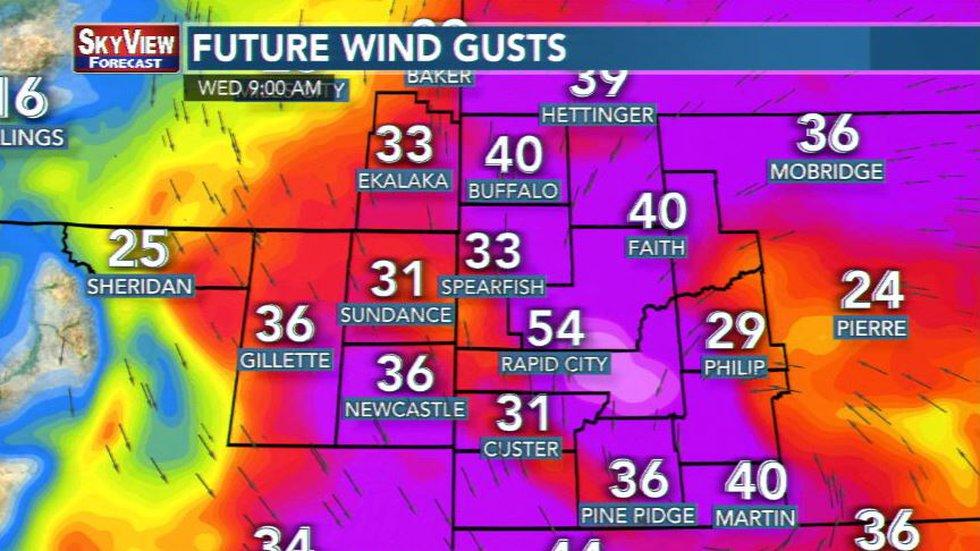 peak wind gusts