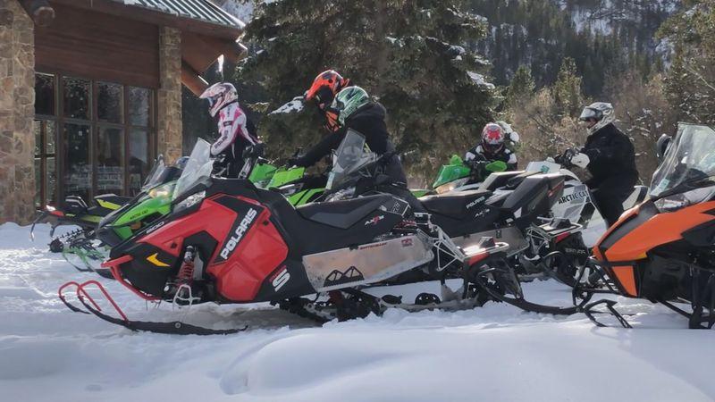 Snow mobile helmets.