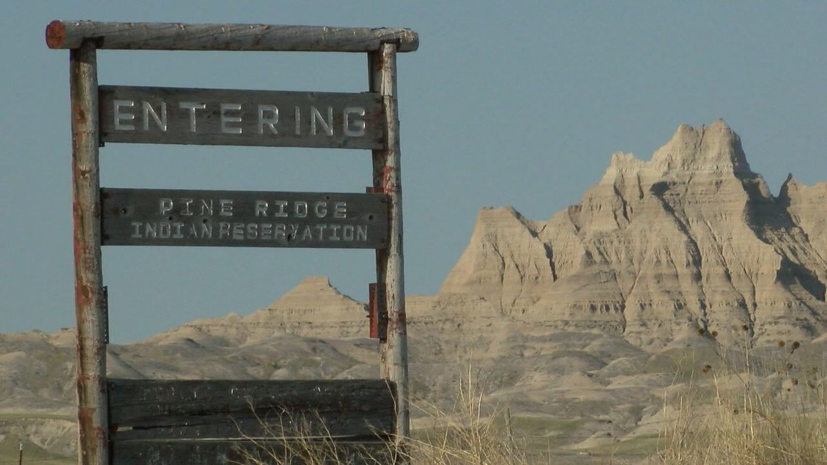 One of the entrances to the reservation.