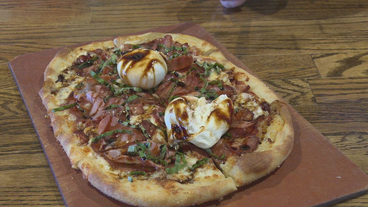 Independent Ale House's special pizza creation, the Spicy Capicola Pizza.