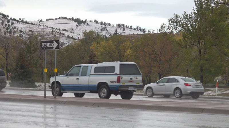 Drivers in Rapid City were challenged with the storm yesterday.