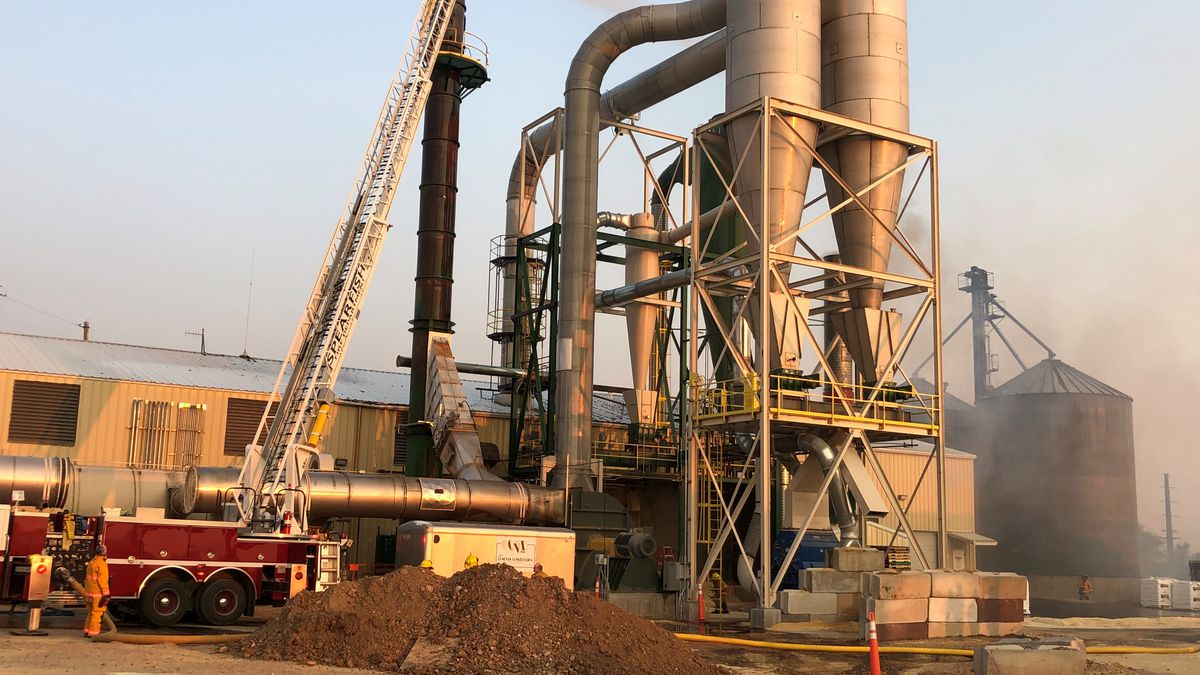The department was paged out at approximately 5 a.m. Saturday after receiving a report of flames coming out of the smokestack at the Spearfish Pellet Company, located off of West Oliver Street.