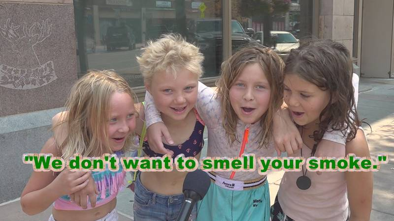 """""""We don't want to smell your smoke!"""""""