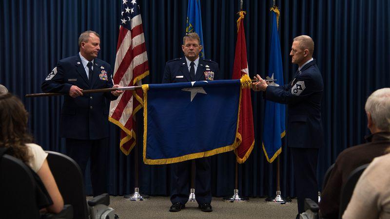 U.S. Air National Guard Brig. Gen. Edwin Vanderwolde, South Dakota National Guard Director,...