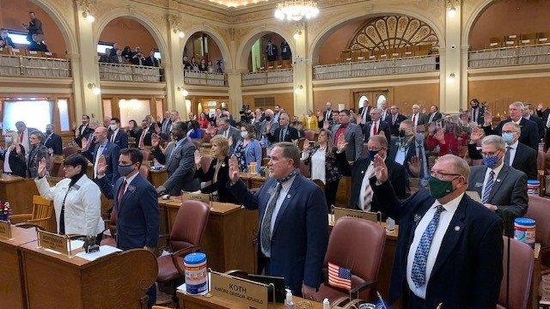 """South Dakota is """"the best place to live in America,"""" Governor Kristi Noem told state lawmakers..."""
