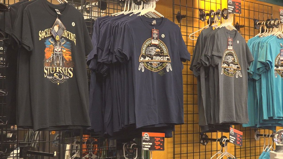 Rally Shirts are always a big seller at the festivities, and Tom's T's, a small shirt business...