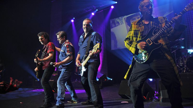 The Bay City Rollers perform in London in 2015.