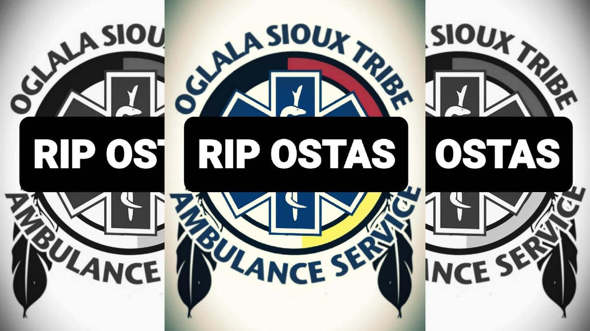 EMTs formerly employed by the Oglala Sioux Tribe Ambulance Service (OSTAS) are wearing the...