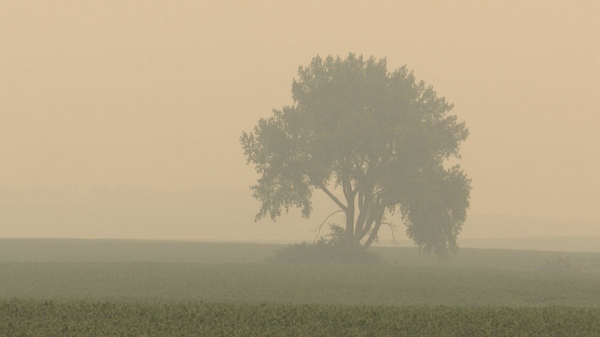 The blowing smoke from wildfires in Manitoba, Canada have plunged northeastern South Dakota...