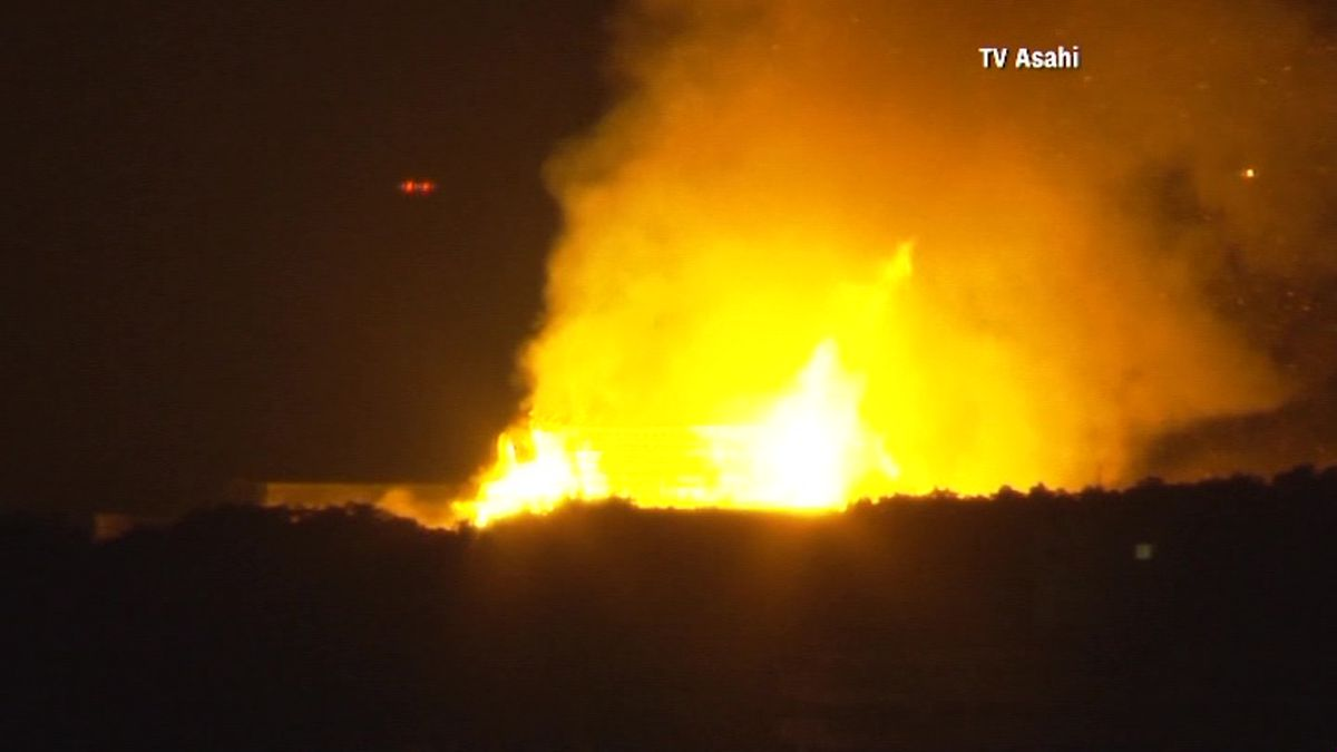 A fire has broken out at Japan's Shurijo Castle, a UNESCO World Heritage Site, on the island of Okinawa. (Source: TV Asahi via CNN)