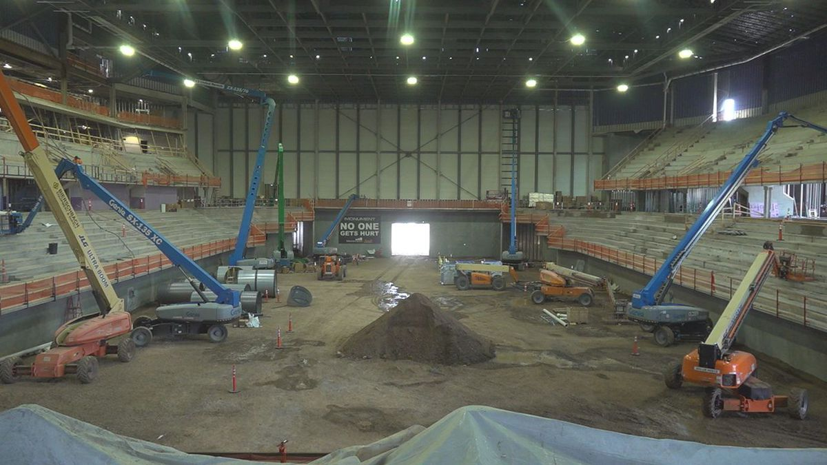 Since construction began on the Summit Arena, crews have already put its highest beam in place...
